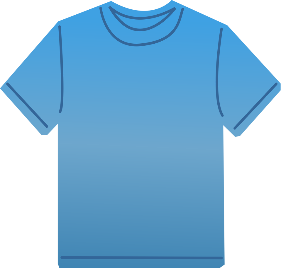 958x915 T Shirt Free Stock Photo Illustration Of A Blank Blue T Shirt