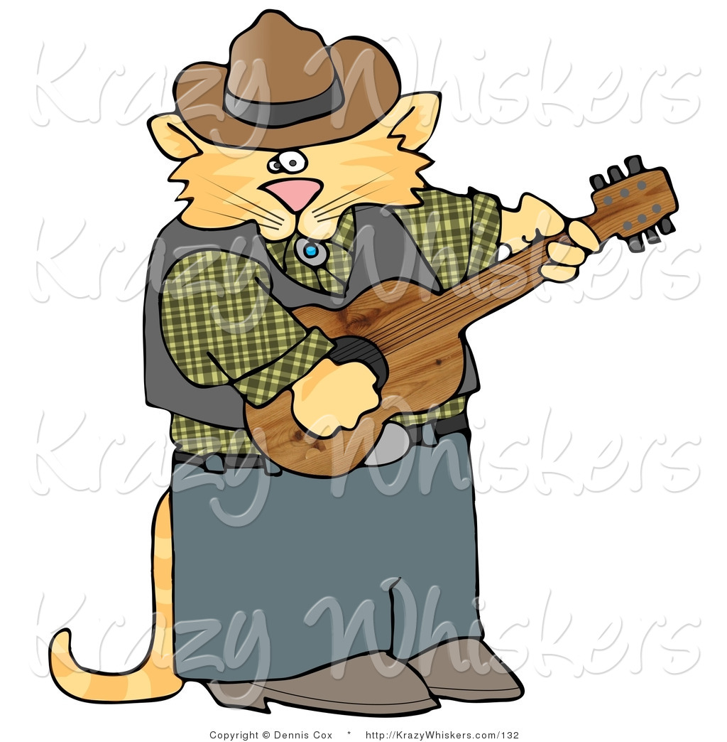 1024x1044 Critter Clipart Of An Anthropomorphic Cowboy Orange Tabby Cat