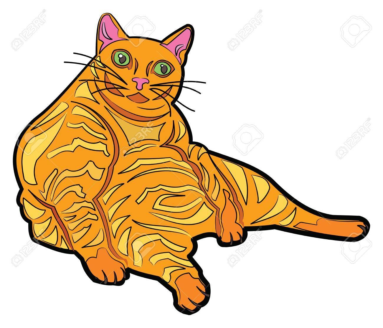 1300x1113 Orange Cartoon Cats