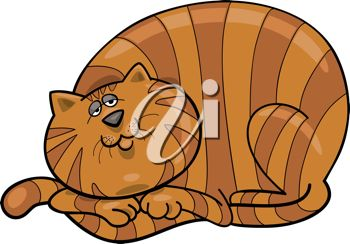 350x244 Picture Of A Orange Striped Cat Laying Down In A Vector Clip Art