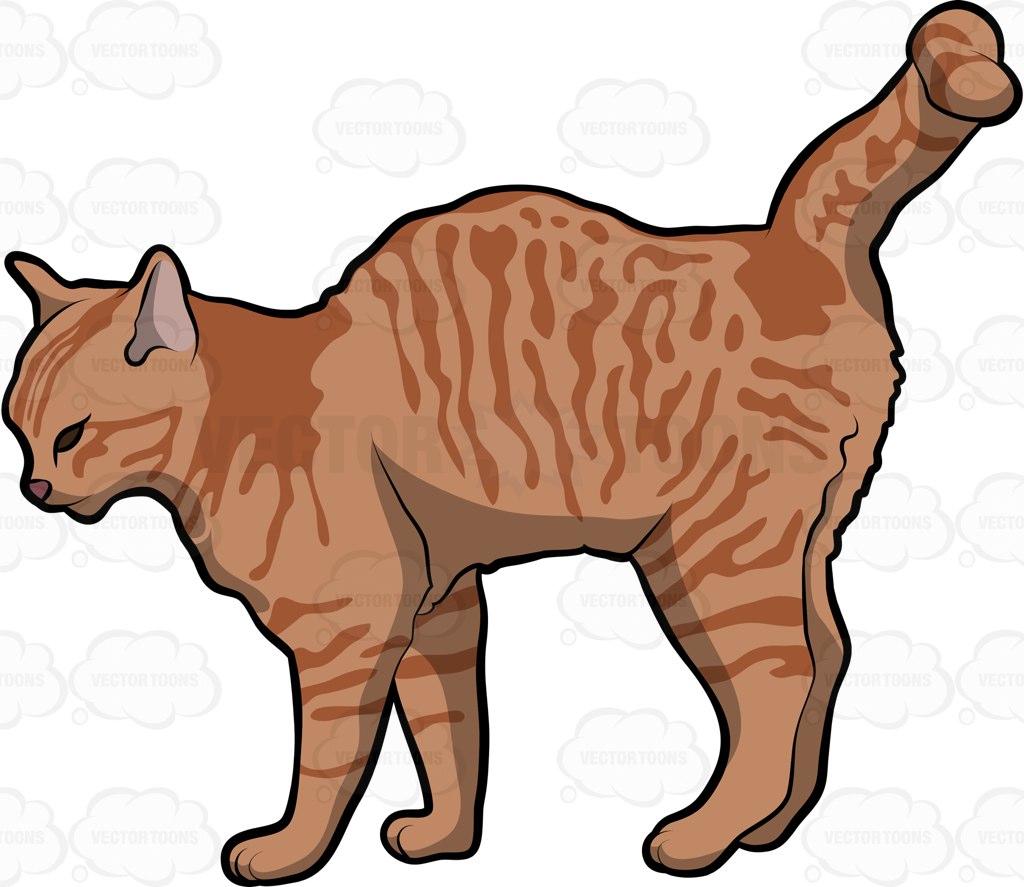 1024x887 An Arabian Mau Pet Cat Cartoon Clipart Vector Toons