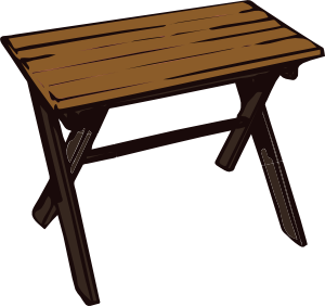 300x282 Collapsible Wooden Table Clip Art