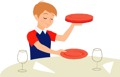 460x296 Set Table Clip Art Clipart Download Person Setting The Table