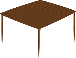 300x230 Small Square Table Clip Art