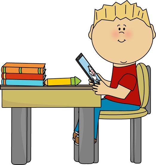 523x550 Students At Table Clipart