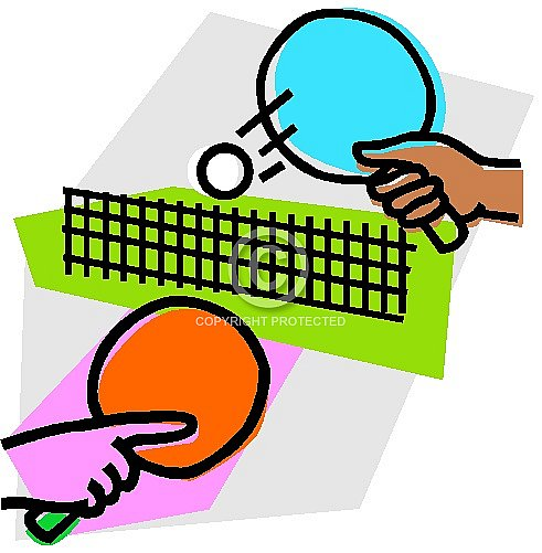 491x501 Clipart Of Table Tennis