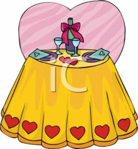 277x300 Valentine Clipart Picture Of A Table Setting For Two