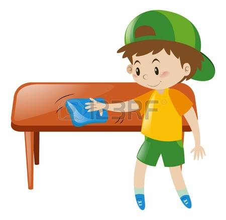 450x439 Cleaning Table Clipart
