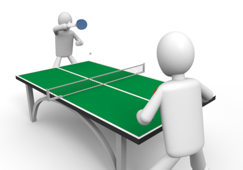 500x350 Image Of Playing Table Tennis Clipart