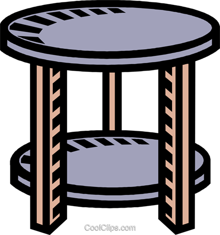 449x480 Round Table Pedestal Royalty Free Vector Clip Art Illustration