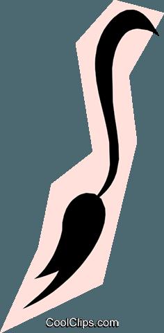 236x480 Donkey Tail Royalty Free Vector Clip Art Illustration Anim1180