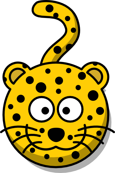 396x597 Leopard Head With Tail Clip Art
