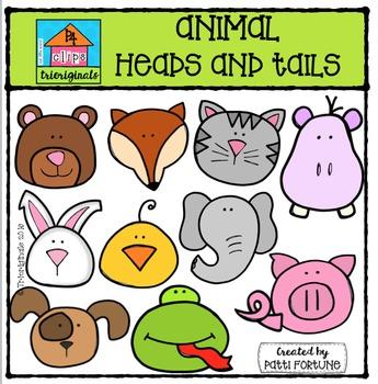 345x350 Animal Heads N Tails {P4 Clips Trioriginals Digital Clip Art} Tpt