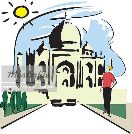 445x450 Facade Of A Mausoleum, Taj Mahal, Agra, Uttar Pradesh, India