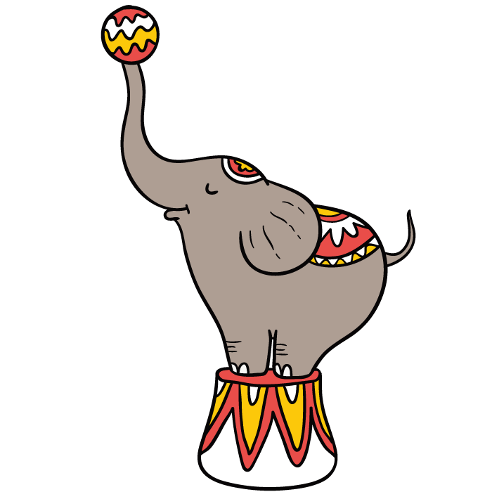 700x700 Performance Circus Elephant Clip Art