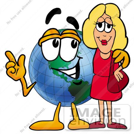 450x450 Cliprt Graphic Of World Globe Cartoon Character Talking
