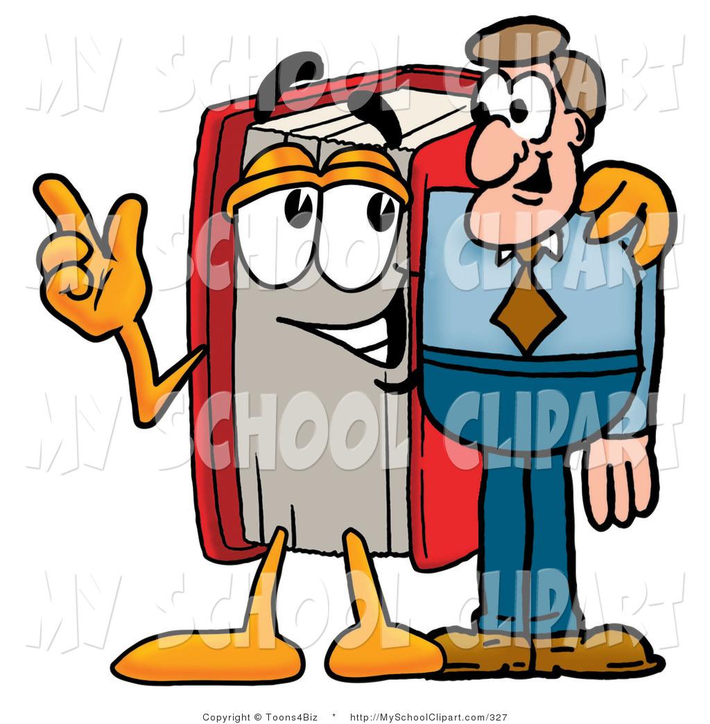 1024x1044 Cliprt Of Red Book Mascot Cartoon Character Talking Shop