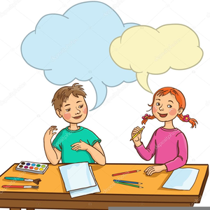 300x300 Two Kids Talking Clipart Free Images