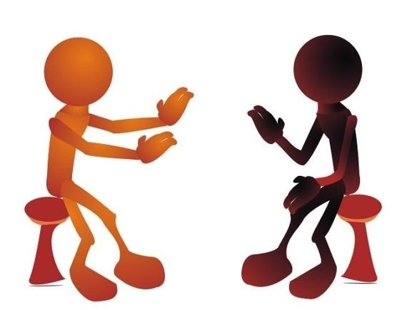 570x435 Two People Talking Images Free Download Clip Art Carwad