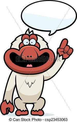 299x470 Cartoon Macaque Talking. A Cartoon Illustration Of A Clip Art