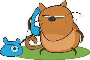 300x199 Cat Talking In Phone Clip Art Free Vector 4vector