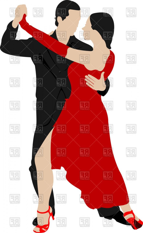 884x1440 Couple Dancing A Tango Vector Clipart Shopatcloth