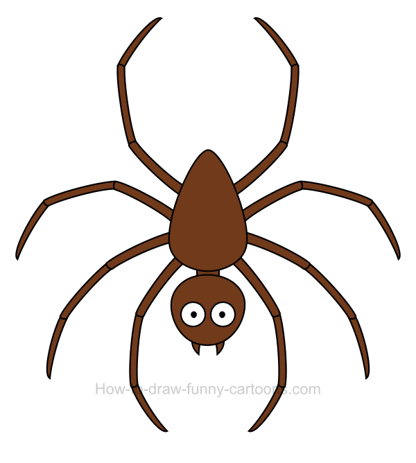 600x668 How To Draw A Spider Clip Art