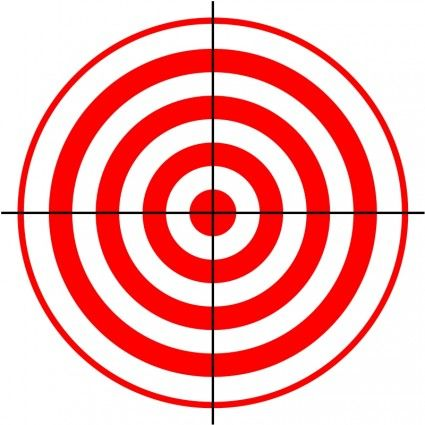 425x425 Laser Tag Target Clipart