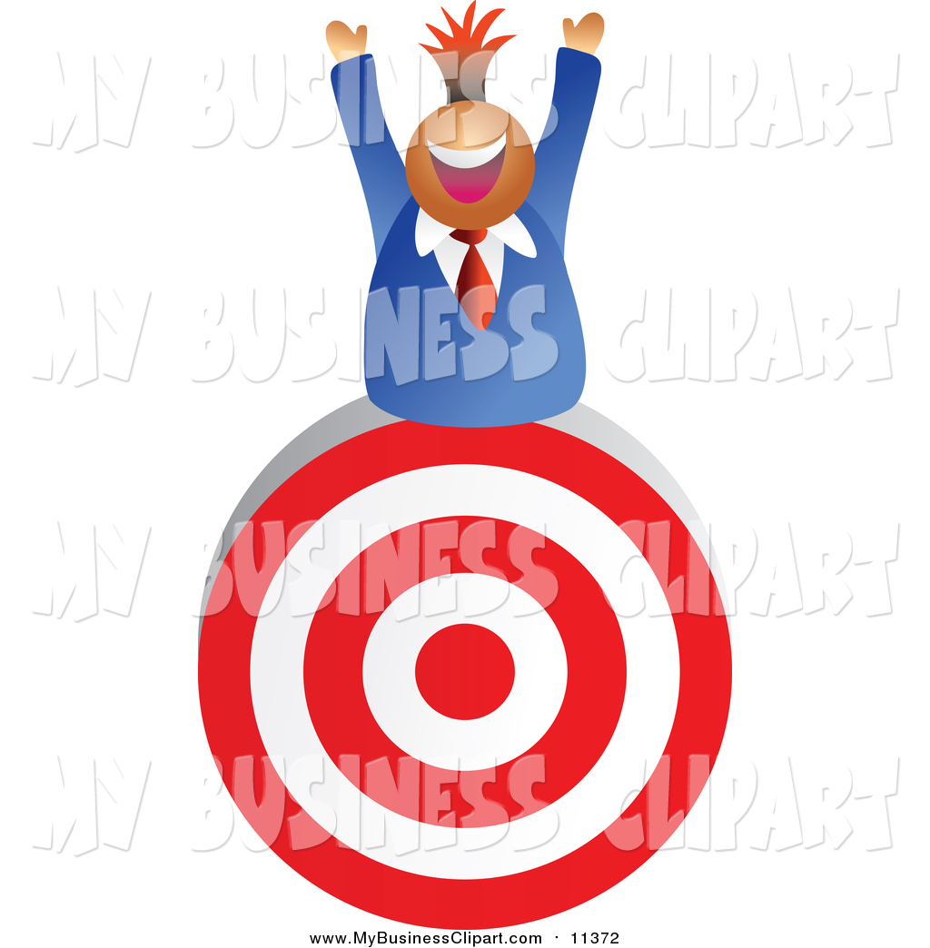 1024x1044 Vector Clip Art Of A Successful Business Man On Target By Prawny