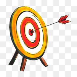 260x260 Bullseye Shooting Target Arrow Archery Clip Art
