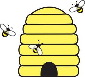 300x271 Hive Clip Art