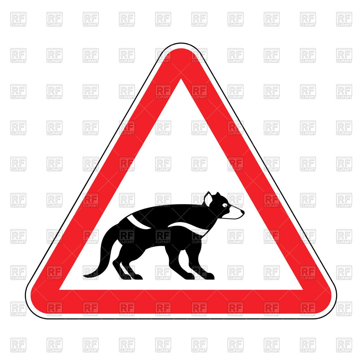 1200x1200 Attention Tasmanian Devil Sign Royalty Free Vector Clip Art Image