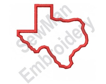 340x270 Pleasurable Ideas State Of Texas Outline Etsy Machine Embroidery
