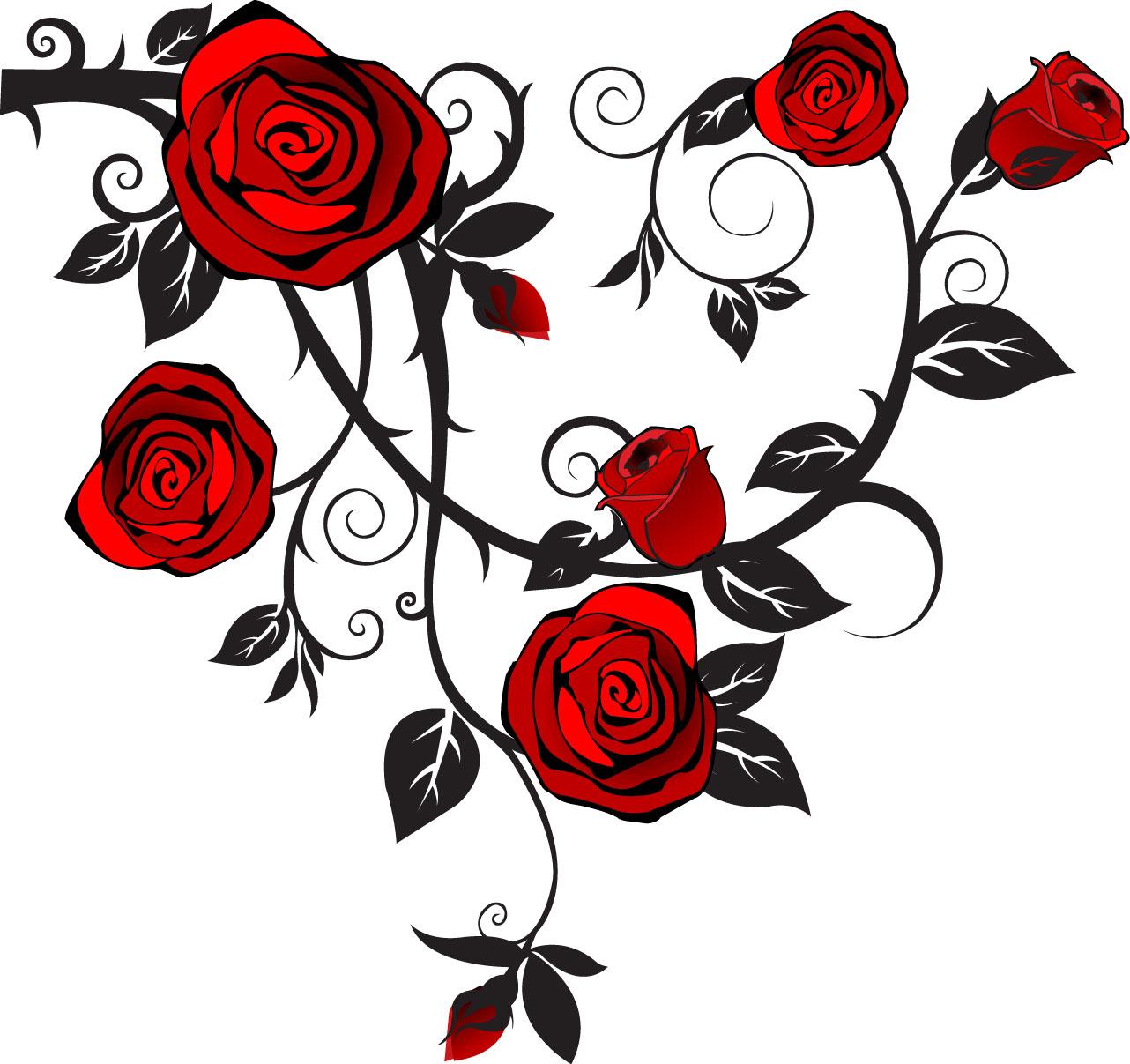 1282x1207 Rose Tattoo Clipart