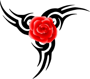 300x265 Tribal Tattoo With Rose Clip Art