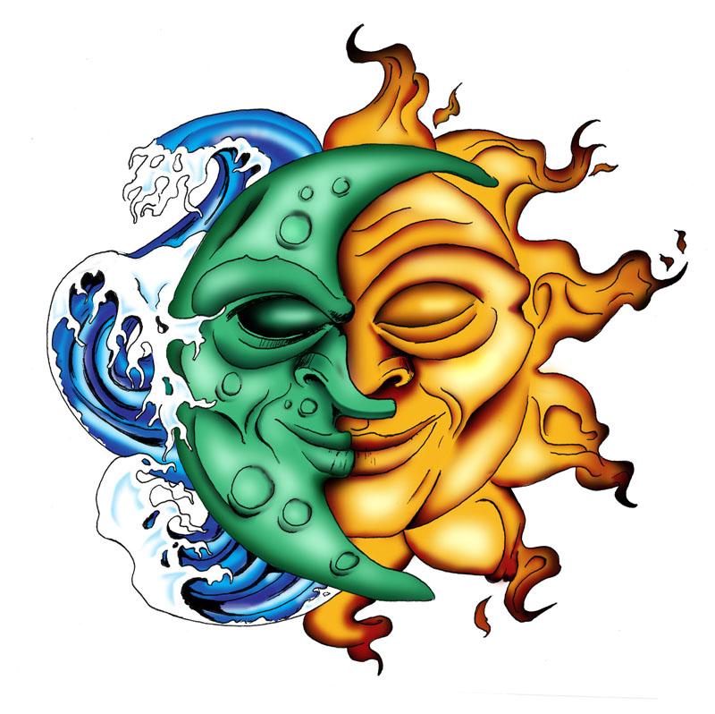 800x798 Collection Of Color Sun Tattoo Stencil