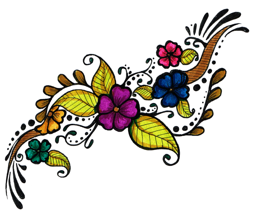 900x774 Flower Tattoo Design Clipart