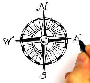 300x276 Compass Treasure Mappass Clipart Sea Turtle Tattoo