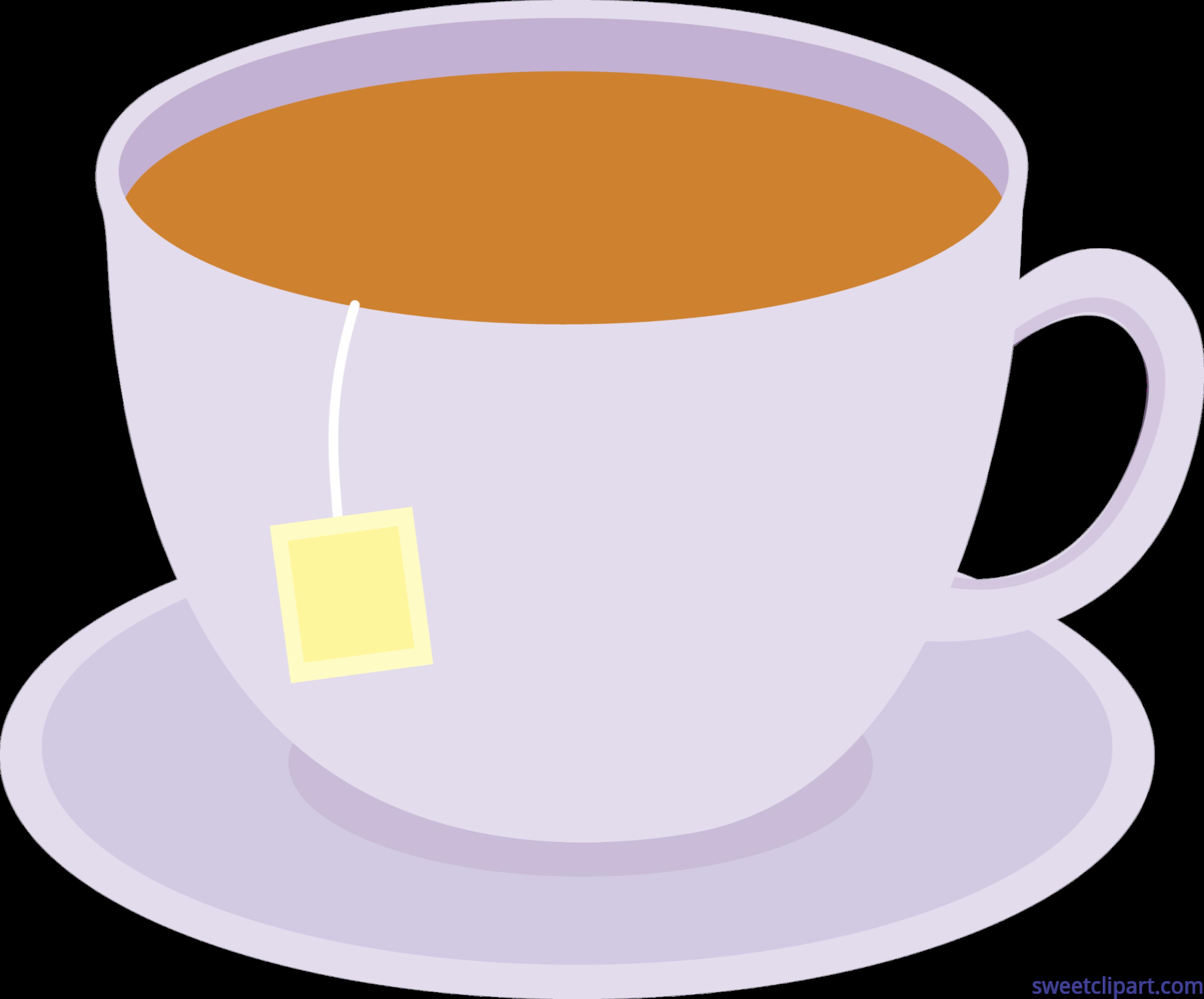 4173x3462 Cup Of Tea On Dish 1 Clip Art