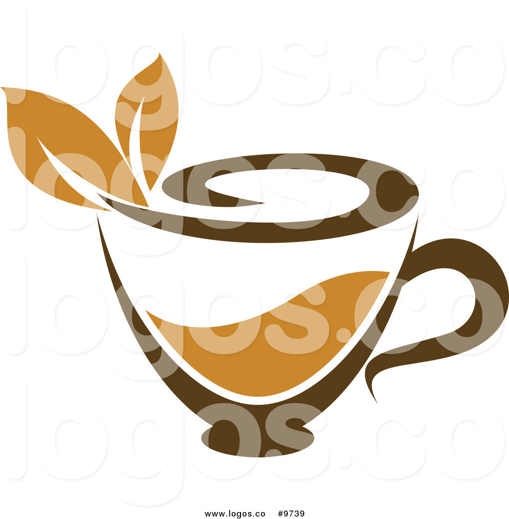 1024x1044 Royalty Free Clip Art Vector Cup Of Brown Tea With A Leaf Logo By