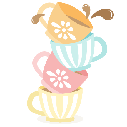 432x432 Tea Cups Stacked Svg Cutting Files For Scrapbooking Cute Files