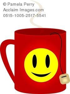 224x300 Clip Art Image Of A Happy Face Mug Of Tea