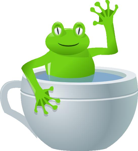 546x597 Frog In Tea Cup Clip Art Free Vector 4vector
