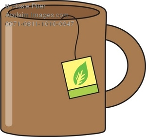 300x281 Royalty Free Clipart Illustration Of A Brown Mug With Tea