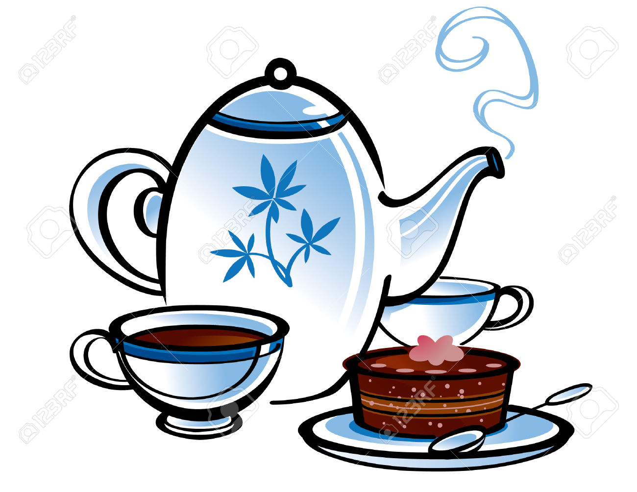 1300x1004 Collection Of Free Clipart Tea And Cake High Quality, Free