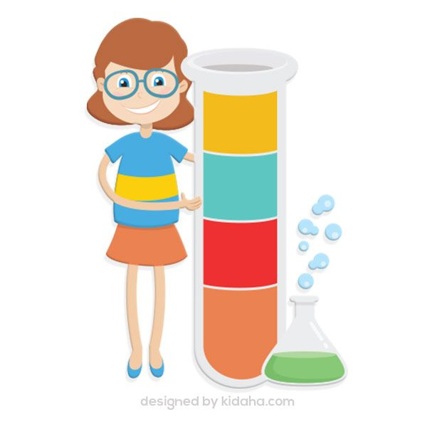 600x600 Free Girl Student With Science Tube Experiment Free Education Clip