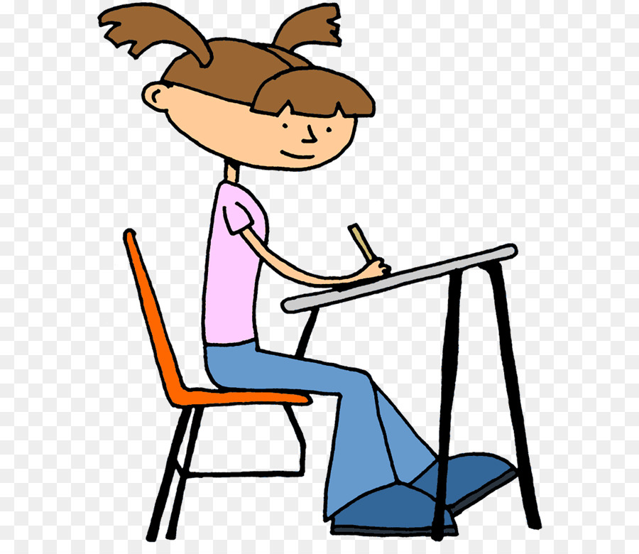 900x780 Student Doing School Desk Teacher Clip Art