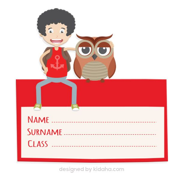 600x600 Student And Owl Name Tag Free Education Clip Arts For Kids
