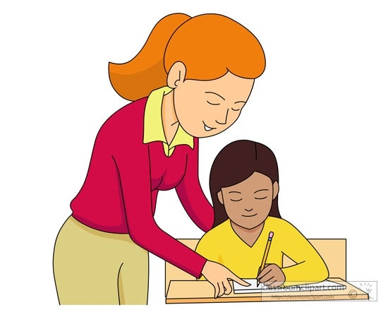 550x442 Teacher And Student Reading Clipart