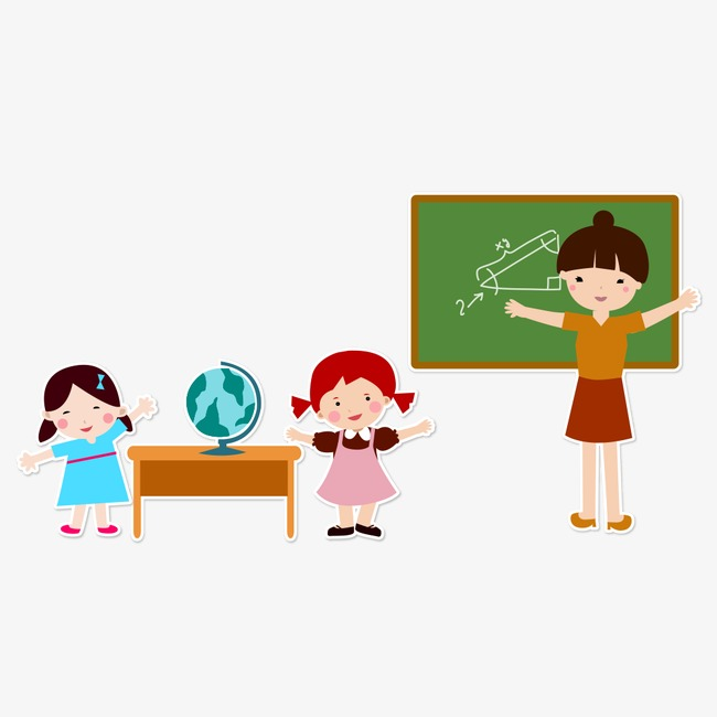 650x650 Teacher Student, People Illustration, Cartoon Characters